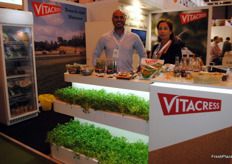 Nuno Alves and Isabel Cortinhas, of Vitacress Portugal, known for its watercress, lettuce and fresh herbs.