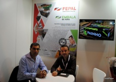 Joaquim Santos and Paulo Carpinteiro, of Embala and Fepal, devoted to boxes and pallets.