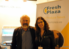 Visitors from countries all over the world have visited the stand of FreshPlaza. Paulo Álvaro Roriz Dantas, of Agrodan, appears in this photo next to our colleague Nathaly Saucier. Agrodan is a Brazilian company devoted to the production and distribution of mangoes.