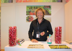 Willem Coolbergen and his radishes shared a booth with OrtOlanda at the Italian pavilion.