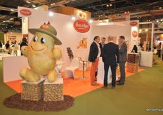 The booth of Pom d'Agri, they export French potatoes mainly to Spain, Portugal and Italy.