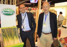Dominiek Keersebilck with his colleague Wim de Meulenaer are visiting. Together with exporters, they are promoting products from West Flanders in Spain, a large buyer of leek, among other products.