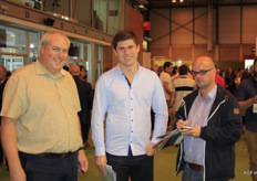 Rotom gets to know the Fruit Attraction. Left to right: Lieven Coppieters, Roel de Winter and Luc Claus.