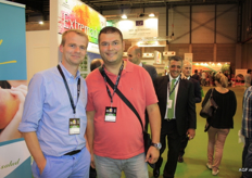 Tom and Gabriel of Allegria Fruit, exporter to Italy and Spain.
