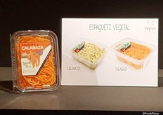Comfresh Iberian also presented their Gama Espaguetti Vegetal. It's pumpkin and zucchini spaghetti shaped to prepare vegetable pasta. It's commercialized since april last year.