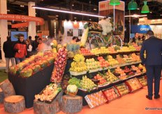 The nice presentation of different kind of fruits attracted a lot of visitors.