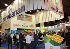 Grupo Eurobanan sharing the stand with Total Produce. They promoted their brands including Kiwiberico, Coplaca, Agrorigen and Isla Bonita.