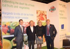 The team of NatureSeal: Craig Edwards, Enrique Morera, Antoinette Jakobs and Simon Matthews. NatureSeal is specialized in fresh-cut, shelf-life extension technology products for the fresh produce industry.