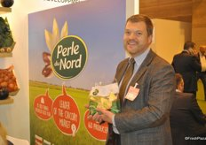 Marc-Henri Blarel from Perle du Nord promoting the chicory from France