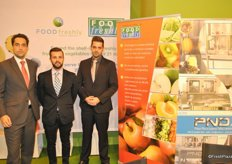 Alberto Labrado from Food Freshly Spain/Portugal, Gianluca Giordano from PND and Benjamin Singh from Food Freshly
