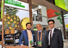 The Jalaram Fruit team, present at the Costa Rica stand.