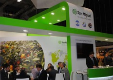 The San Miquel stand, which attracted many visitors during the entire exhibition.