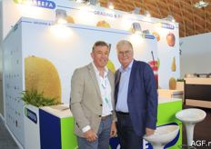 Erik Leerdam from Greefa with Dick Heijmans from Fruitmasters.