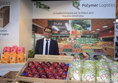 Michele Vassalli from Polymer Logistics with various crates.