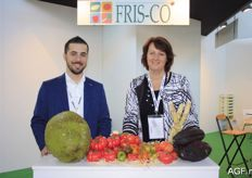 Nico Pennelli and Sandra Boogaard from Fris-Co. It was the Dutch company's first time at the Macfrut. In previous years they visited the fair, but this year they were exhibitors in their main market.