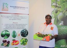 Monica N. Kankam from Kankam Exporters from Kenya. The company's most important product is the Hass avocado. Additionally, they also supply various exotics.