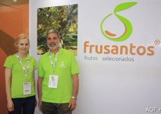 Sonia Santos, left, and her colleague from Frusantos. This Portuguese company is specialised in chestnuts and olive oil.