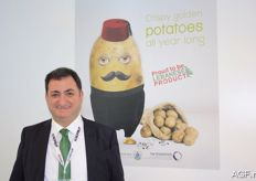 Tony Tohme from the company of the same name is specialised in potatoes from Lebanon. They shared a stand with other Lebanese companies to promote various products from their country.