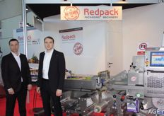 Lukasz Pruzkawski and Giles Briston from Redpack. This company presented packing machines and has been active for more than 40 years.