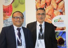 Ghazi Rouissi from House of Dates with Foued Ben Hamida from the Technical Centre of Dates from Tunisia. Export of this product increases annually.