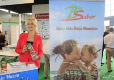 Laura Martin Belmonte from BioSabor. The Spanish supplier offers both fresh and processed products. Examples of processed products are tomato juices and gazpachos.
