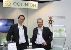 Tom Coen and Gaetan Hug from Octinion. Last year, this company introduced the picking robot for strawberries.