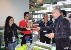 Tasting cress at the Koppert Cress stand.