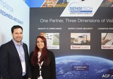 Adam Twiner and his colleague Selene Caragnano from Sensitech.