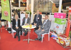 Virginie Bendjema from Herport, Albert Marcellin, ROland Charrade and Pascal Corbel from Cardell Export. They see a big increase in demand and planting for the organic Juliet apple.
