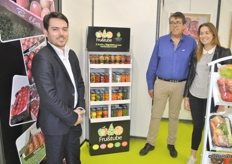Anthony Marroig, Philippe Sanjaime and Alexandra Sanjaime from Marroig Primeurs