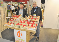 Patrick Cluchier and Bernard Chiron from Melon de Cavaillon had a good first year with 500 tons of melons.