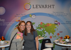 Marian Hessing of Hessing Supervers and Eva van der Plas of T. van der Plas as visitors to the trade show.