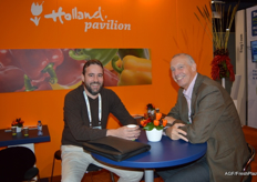 Erik Storteboom of Rabobank NYC and Hans Hoekstra of Tolsma. Both live in the USA for their work.