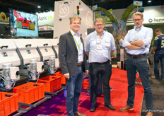 Erwin Bakker of Ellips with Marcel Mulder and Jos Broeders of Miedema.