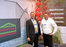 Gert Kolbach of System USA Greenhouses and Marco Visser of Certhon.