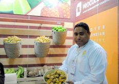 Marvin Banks, GAT Global Agricultural Trading, part of the Colombian stand.