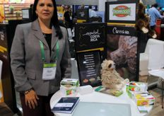 Adriana Medina from TropiFoods, also present at the Costa Rica Pavilion