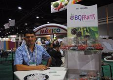 Miquel Méndez from BQ fruits, soft fruits from Mexico