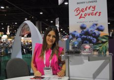 Mariana Soto from Berry Lovers, also present at the Mexican pavilion