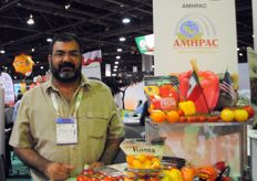 Francisco Chain Castro from InverMex, Mexico at the Booth of AMHPAC
