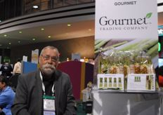 Jim House from Gourmet Grading Company, one of the many Mexican exhibitors. They focus in green asparagus.