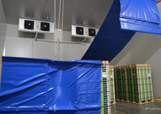 This is the pre-cooling rooms which reduces the fruit temperature much faster that the normal coldstores. The core temperature is reduced within 8-12 hours.