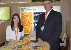 Trébol Pampa SA, Pamela Curvale and Nestor Logio. Citrus (oranges), grapes and blueberries are this company's most important products..