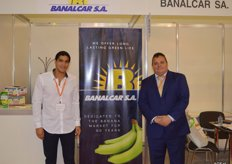 Banana exporter, Banalcar, produces and exports bananas from Ecuador. They send about 50 containers per week to Poland, Italy, Dubai, England and Spain. Juan Carvayal and Juan Carlos Reyna Peré.