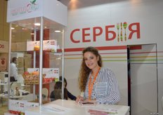 The Serbian company, Agroprom, supplies peaches, nectarines, cherries, apples, plums, pears and grapes. Marina Ivanisevic.