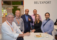 Bel'export has been a trusted name at World Food Moscow for years. Tony Derwael, Tim Pitteviels, an Armenian client, Vitaly Poplevien and other clients.