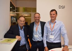 Belorta, Pierre Vrancken and Miguel Demaeght visited World Food Moscow. Here they are with Dries Sebrechts.
