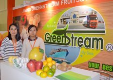 Greenstream from China is a grapefruit, garlic, apple and citrus supplier. Julie and Emma.