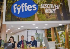 The Fyffes logo cropped up everywhere. Viktoria Shevchenko, Pavel Bobrov and Oleg Kasianov.